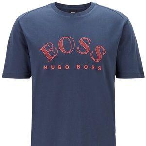 NWT Hugo Boss Blue Cotton-Jersey T-Shirt